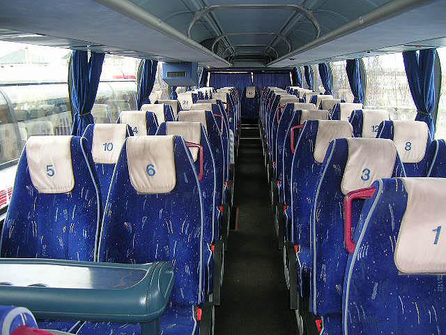 Автобус Neoplan 117.  Интерьер салона.
